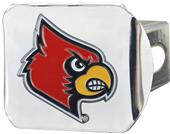 Fan Mats NCAA Louisville Chrome/Color Hitch Cover