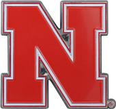 Fan Mats NCAA Nebraska Colored Vehicle Emblem
