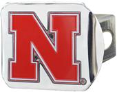 Fan Mats NCAA Nebraska Chrome/Color Hitch Cover