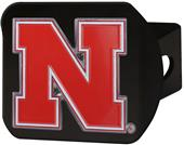 Fan Mats NCAA Nebraska Black/Color Hitch Cover