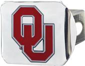 Fan Mats NCAA Oklahoma Chrome/Color Hitch Cover