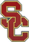 Fan Mat NCAA USC Colored Vehicle Emblem
