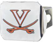 Fan Mats NCAA Virginia Chrome/Color Hitch Cover