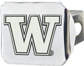 Fan Mats NCAA Washington Chrome Hitch Cover