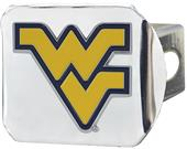 Fan Mats NCAA WV Chrome/Color Hitch Cover