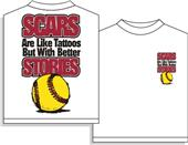 Utopia Softball Scars Short SleeveTshirt