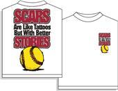 Utopia Softball Scars Short SleeveTshirt