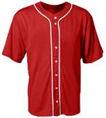 A4 Youth Short Sleeve Full Button Baseball Jerseys