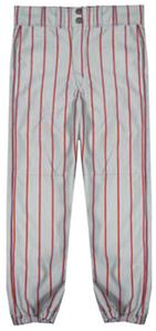 GREY/SCARLET PINSTRIPES