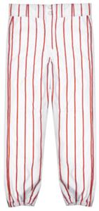 WHITE/SCARLET PINSTRIPES
