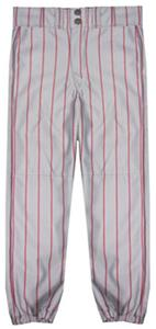 GREY PANT/SCARLET STRIPES