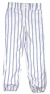 WHITE PANT/NAVY STRIPES