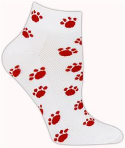 WHITE/RED PAWS