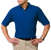 Blue Generation Men's SS Solid Wicking Polo Shirts