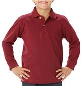 Blue Generation Youth LS Pique Polo Shirts