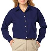 Blue Generation Ladies LS Easy Care Poplin Shirts