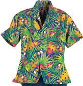 Blue Generation Adult Tucan Print Camp Shirts