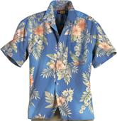 Blue Generation Adult Floral Print Camp Shirts