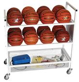 Champion Sports Basketball Double Wide Cart