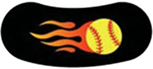 YF - YELLOW SOFTBALL W/FLAME