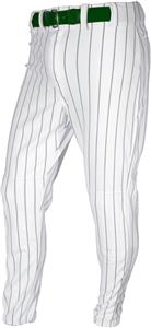 WHITE/DARK GREEN PINSTRIPE