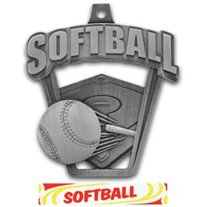 SILVER MEDAL/DELUXE SOFTBALL RIBBON