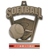 "Hasty Awards 2.5"" ProSport Softball Medals"