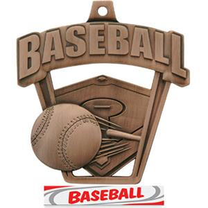 BRONZE/DELUXE BASEBALL RIBBON