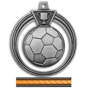 SILVER MEDAL/VICTORY ORANGE NECK RIBBON