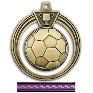 GOLD MEDAL/VICTORY PURPLE NECK RIBBON