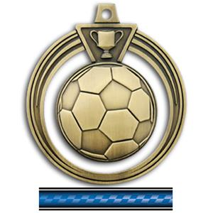 GOLD MEDAL/VICTORY BLUE NECK RIBBON