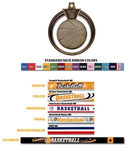 SILVER MEDAL/AMERICANA BASKETBALL RIBBON