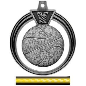 SILVER MEDAL/VICTORY YELLOW NECK RIBBON