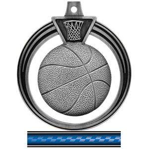 SILVER MEDAL/VICTORY BLUE NECK RIBBON