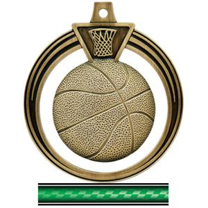 GOLD MEDAL/VICTORY GREEN NECK RIBBON