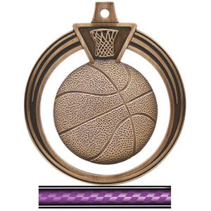 BRONZE MEDAL/VICTORY PURPLE NECK RIBBON