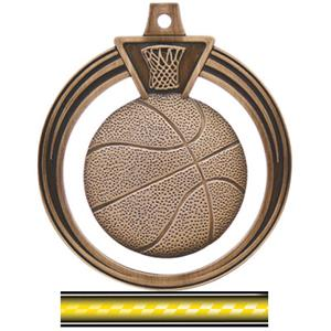 BRONZE MEDAL/VICTORY YELLOW NECK RIBBON