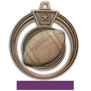BRONZE MEDAL/PURPLE RIBBON