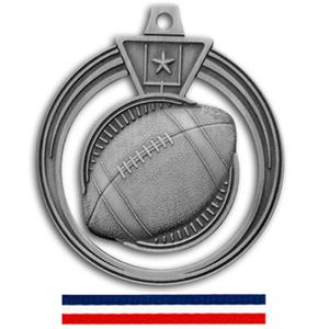 SILVER MEDAL/RED WHITE & BLUE RIBBON