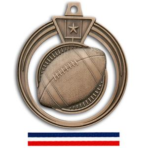 BRONZE MEDAL/RED WHITE & BLUE RIBBON