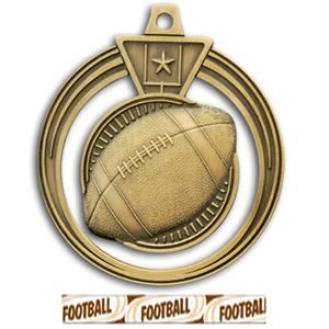 GOLD MEDAL/DELUXE FOOTBALL RIBBON