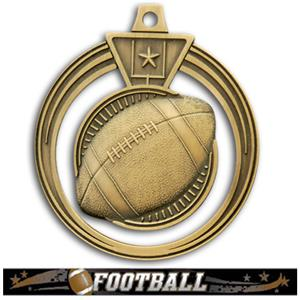 GOLD MEDAL/ULTIMATE FOOTBALL RIBBON