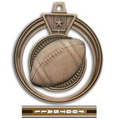"Hasty Awards 2.5"" Eclipse Football Medals"