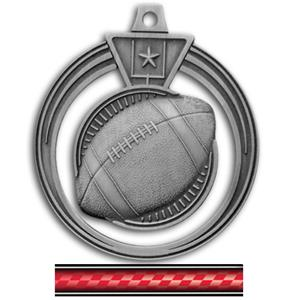 SILVER MEDAL/VICTORY RED NECK RIBBON