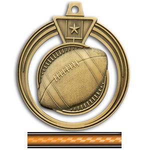 GOLD MEDAL/VICTORY ORANGE NECK RIBBON