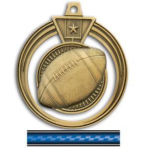 GOLD MEDAL/VICTORY BLUE NECK RIBBON