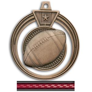 BRONZE MEDAL/VICTORY MAROON NECK RIBBON