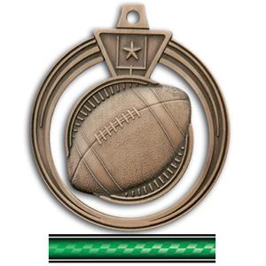 BRONZE MEDAL/VICTORY GREEN NECK RIBBON