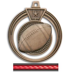 BRONZE MEDAL/VICTORY RED NECK RIBBON