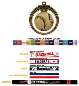 GOLD MEDAL/AMERICANA BASEBALL RIBBON